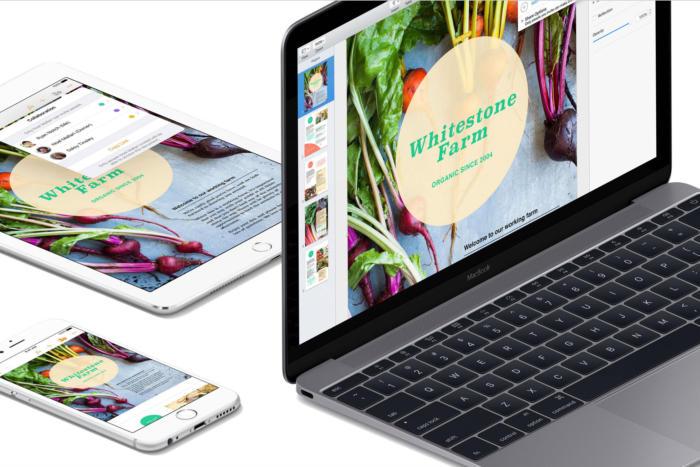 애플 아이워크에서도 생산성 앱과 기기간 콘텐츠 공유가 쉽다.