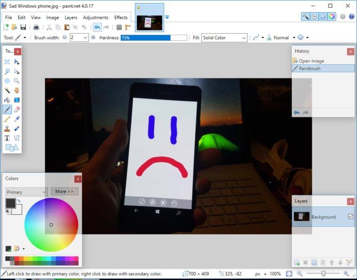 Paint.net은 그림판을 대체할 훌륭한 앱이다.