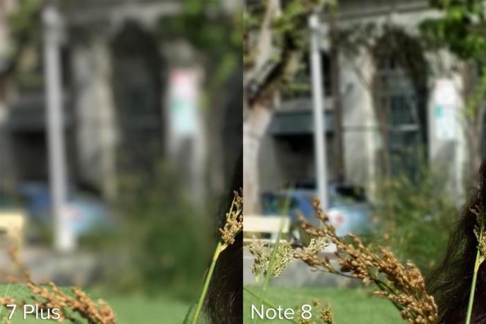 차고문은 아이폰 7 플러스와 갤럭시 노트 8 모두 흥미로운 테스트 대상이었다.