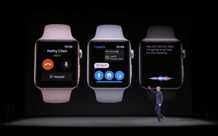애플 워치 시리즈 3에서는 시리가 크게 개선되었다.