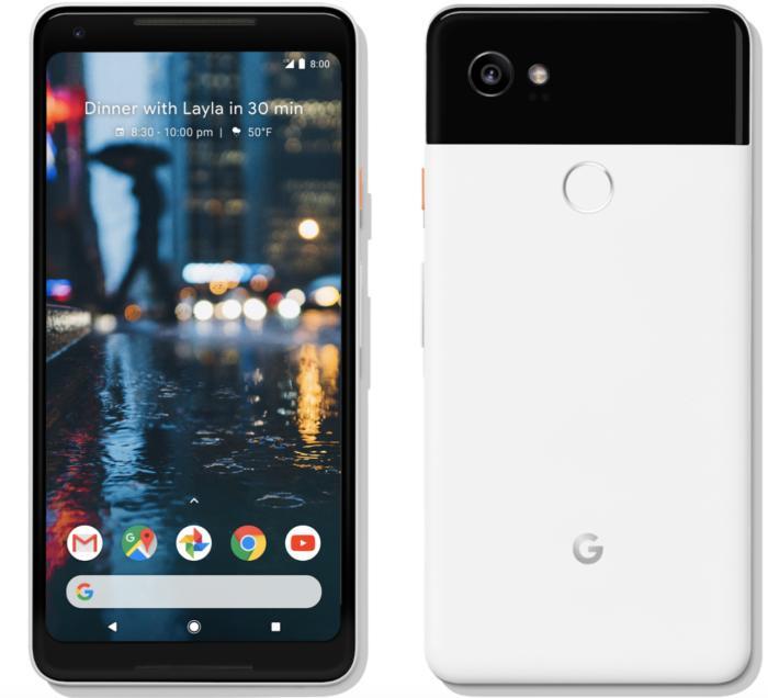 픽셀 2 XL는 안드로이드 오레오를 구동하는 첫 번째 스마트폰이자 안드로이드 P, Q, R도 가장 먼저 사용할 수 있는 제품이다.