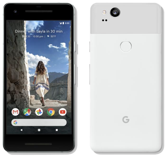 픽셀 2는 아이폰 8보다 베젤이 더 크다.