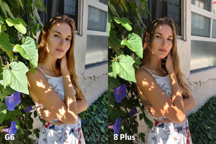 두 스마트폰 카메라 모두 각자의 풍부한 세부 표현을 보여준다.