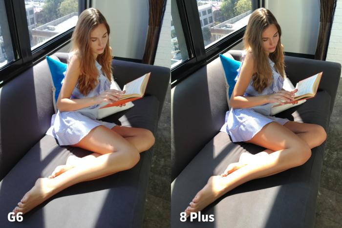 일반적인 거리에서 촬영한 사진에서는 아이폰이 더 좋은 결과물을 냈다.