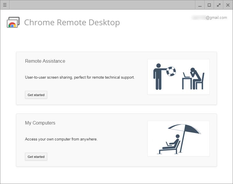 크롬 원격 데스크톱은 타인의 원격 액세스와 자신의 데스크톱 PC 원격 액세스를 모두 처리한다.