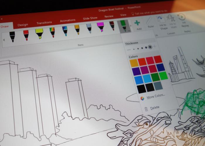 6월부터 오피스 365 사용자들은 펜으로 그린 것을 저장하고 다른 디바이스의 오피스 앱에서 사용할 수 있다.