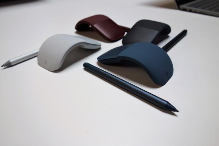마이크로소프트의 서피스 펜과 스컬프트 마우스