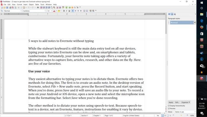 프리오피스는 DOCX, XLSX, PPTX 형식을 읽기만 할 수 있다.
