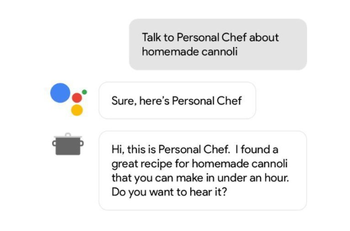 구글이 제시한 사례에서 개인 요리사가 등장할 수도 있다.