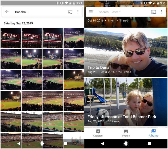 구글 포토는 사진 정리 기능을 다양하게 지원한다.