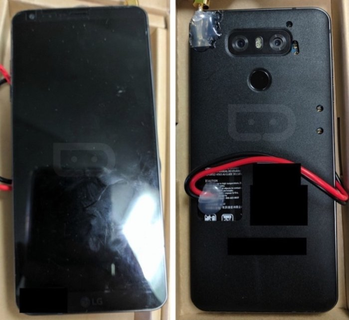 LG G6 프로토타입. 드로이드 라이프는 LG G6의 프로토타입이 어떤 것인지를 보여주는 사진을 게재했다. Credit : DROID LIFE