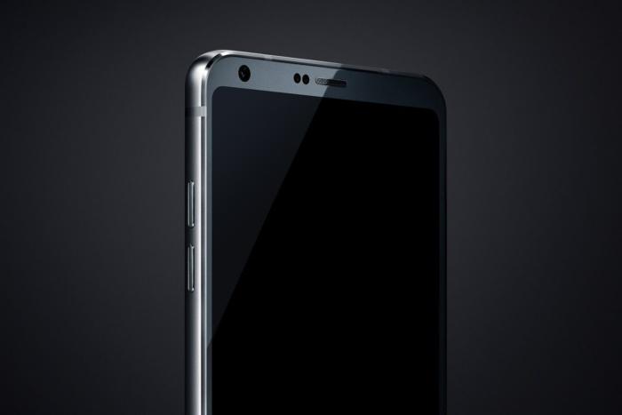 유출된 G6 추정 이미지. 이 이미지는 LG G6가 초박형 베젤이라는 것을 보여준다. Credit : THE VERGE