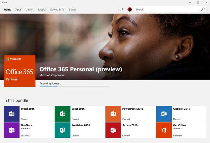 마이크로소프트 스토어에는 없는 앱이 많다. 다행히도, 마이크로소프트 오피스는 모두 다 있는데, 다만 이것을 찾으려면 내장된 '오피스 이용하기(Get Office) 앱을 사용해야만 한다.