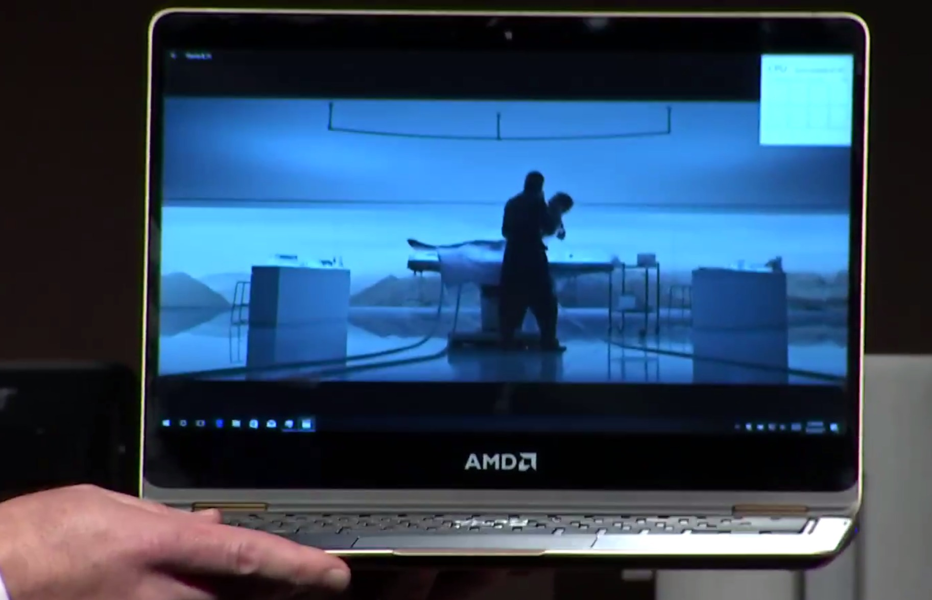 AMD의 라이젠 기반 모바일 칩을 탑재한 노트북. 쿼드코어 라이젠 CPU과 라데온 그래픽을 하나의 칩으로 통합했다.