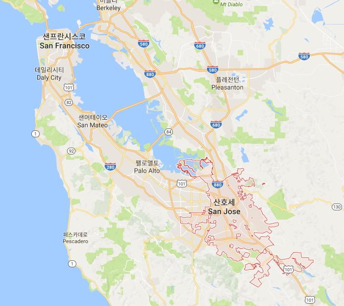 샌프란시스코와 산호세의 위치