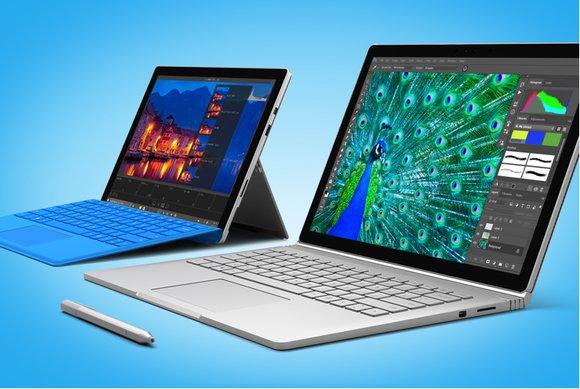 마이크로소프트의 서비스 프로 4와 서피스 북