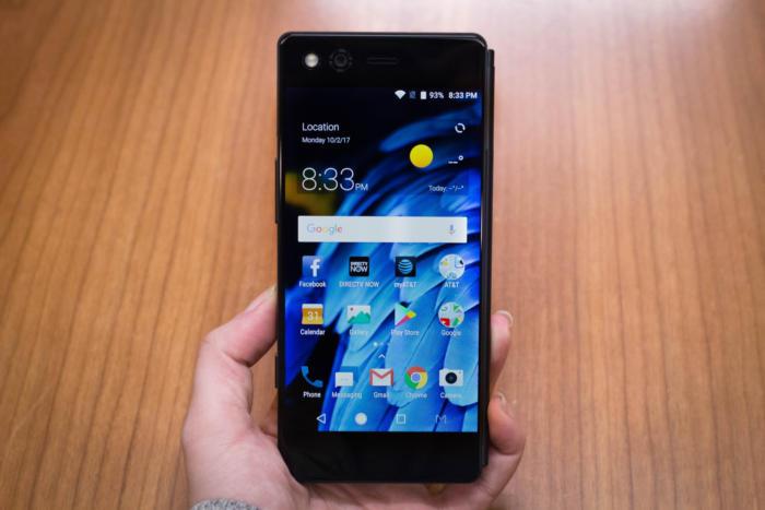 화면 한 개만 사용하는 스마트폰 모드