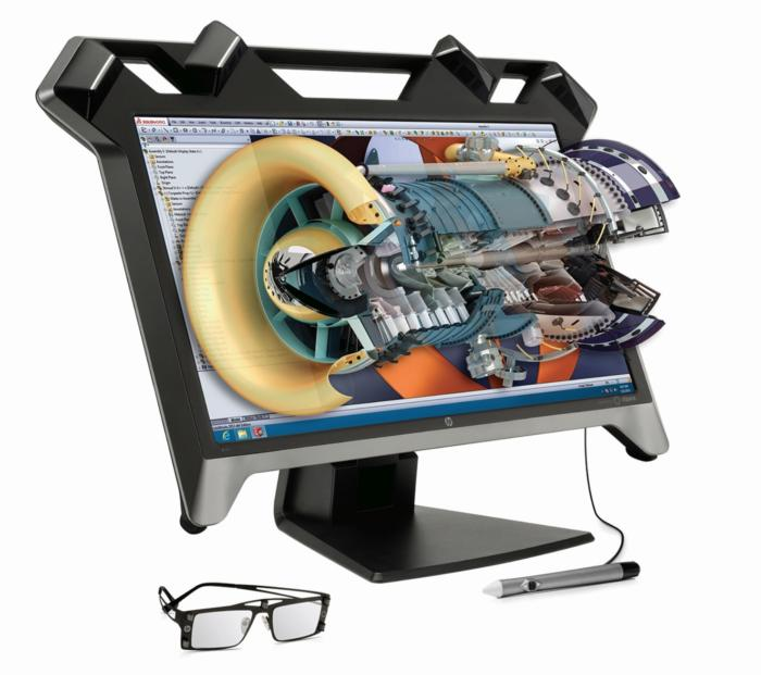 HP Zvr은 표준 모니터를 대체하고 3D 홀로그램을 화면 위에 더할 수 있다.