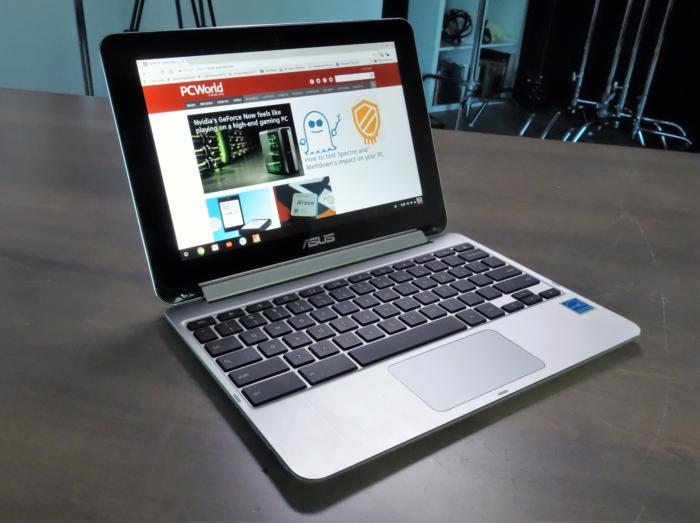 에이수스 플립 크롬북은 신형 아이패드보다 저렴하다.