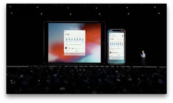 iOS 12의 스크린 타임 앱은 사용자가 얼마나 긴 시간을 사용했는지 정확하게 보여준다.