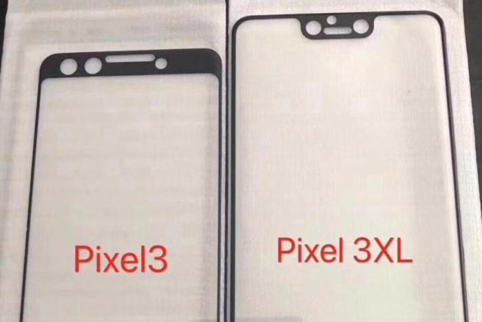 픽셀 3XL(우)의 화면 상단에 깊은 노치가 생길 가능성이 크다.