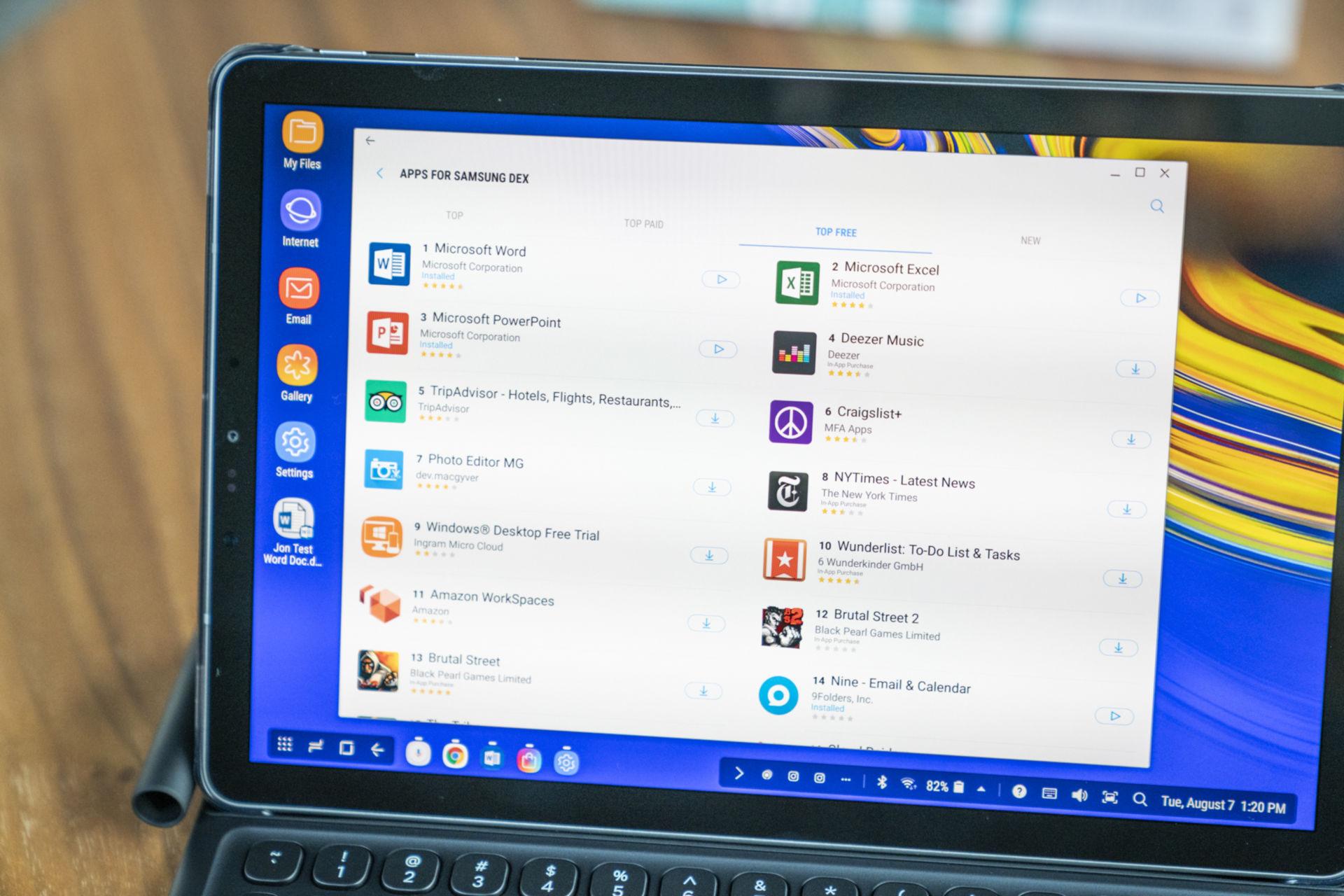 삼성이 덱스 최적화 앱을 많이 제공하지는 않지만, 업무를 끝내는 데 필요한 툴은 이용할 수 있다.