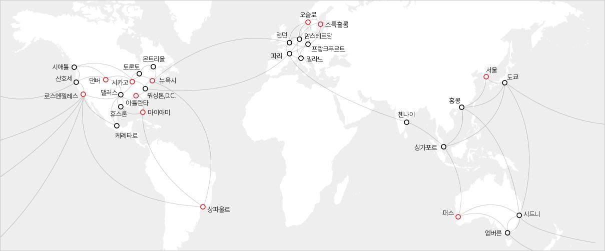 그림1. 전세계 클라우드 데이터센터
