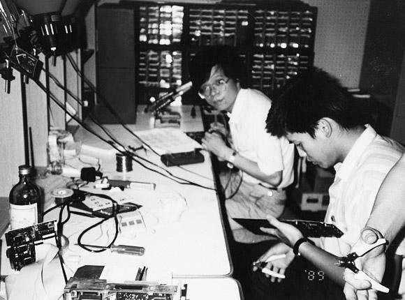 1989년, ASUS 설립자들