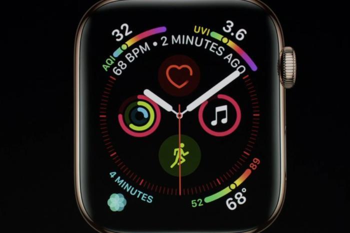 신형 애플 워치의 큰 화면에는 엄청난 수의 컴플리케이션을 맞춰 넣을 수 있다.