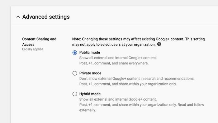 G 스위트 관리자는 구글 플러스에 올라온 직원들의 게시물을 조정 및 검토할 수 있다.