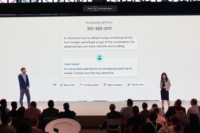 스팸 전화가 왔을 때 구글 어시스턴트가 전화를 대신 받는다면 어떨까?