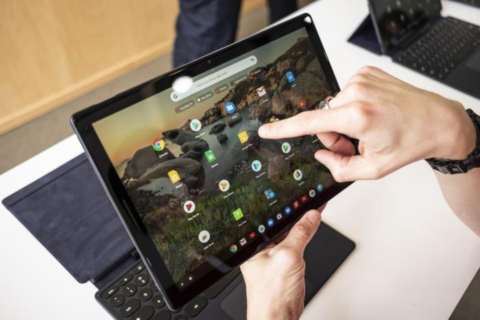 안드로이드와 크롬 OS 앱이 픽셀 슬레이트의 중심에 있다.