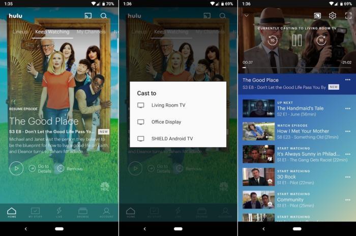 TV기반 메뉴 대신 휴대폰, 태블릿, 노트북의 앱들을 통해 크롬캐스트를 제어할 수 있다.