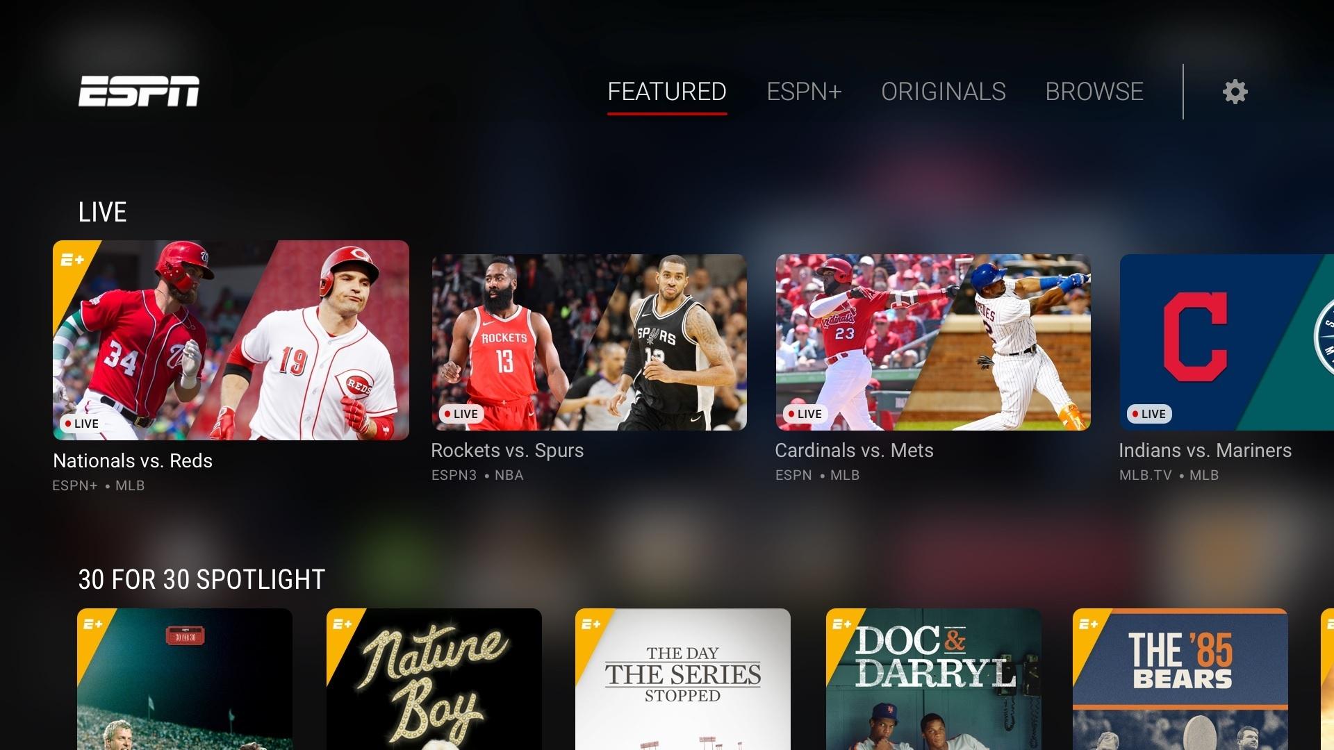 ESPN+와 같은 서비스는 TV 네트워크에는 커다란 변화의 시작이 될 것이다.