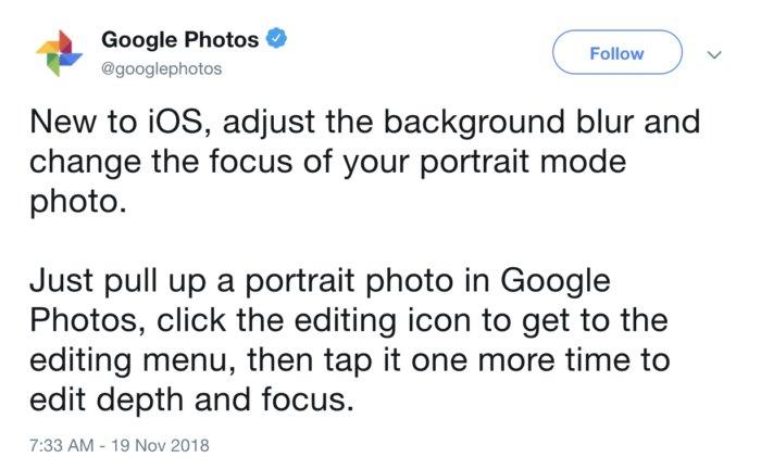 구글은 트위터를 통해 새로운 기능을 발표했는데 앱 업데이트는 필요 없다.