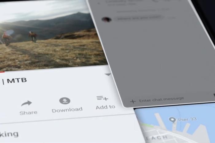 화면을 펼치면 3개의 앱을 구동할 수 있다.